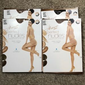 NIB Hanes Perfect Nudes Sheer Hosiery Bundle of 4